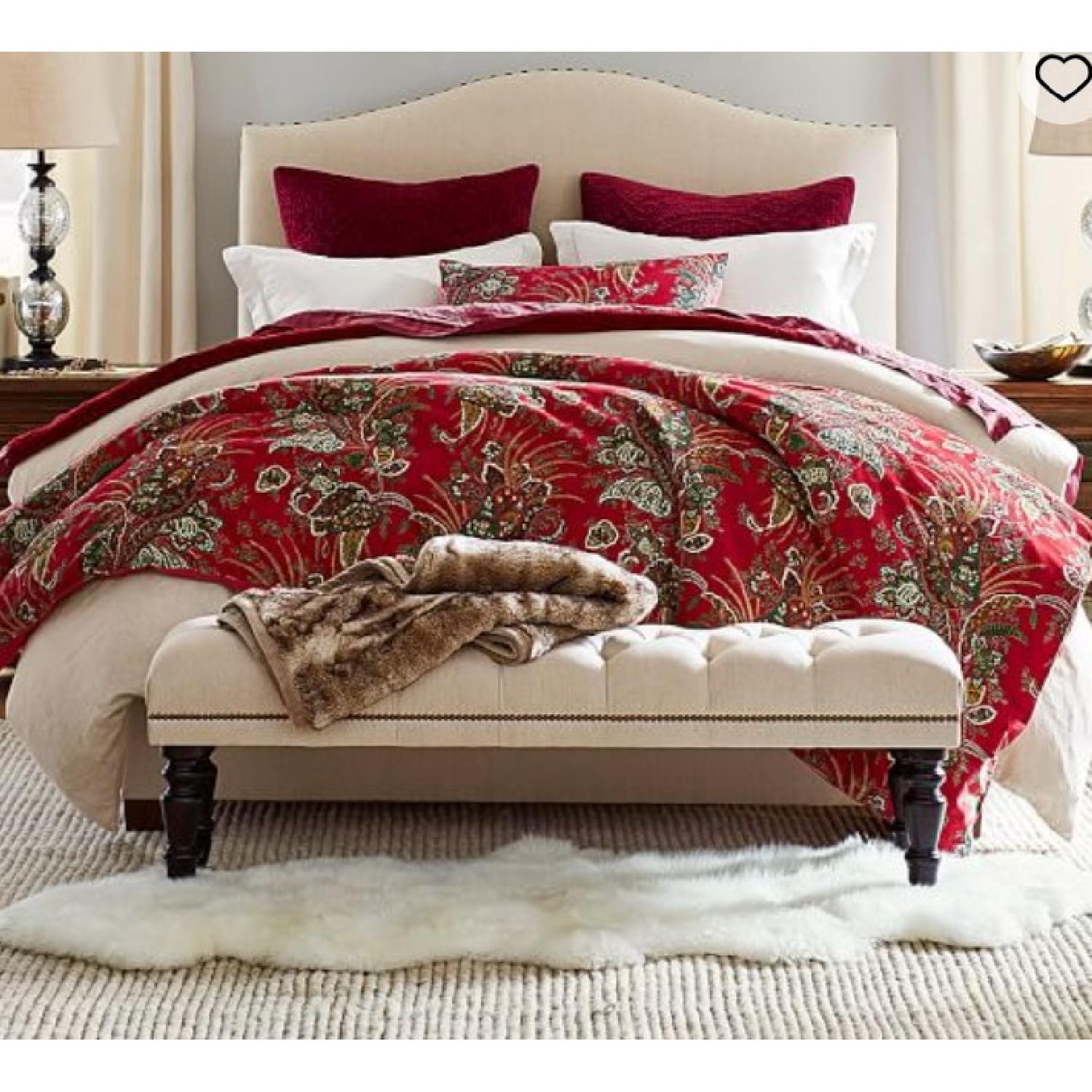 end chesterfield with headboard barn storage master table bedroom pottery transitional bed barns upholstered