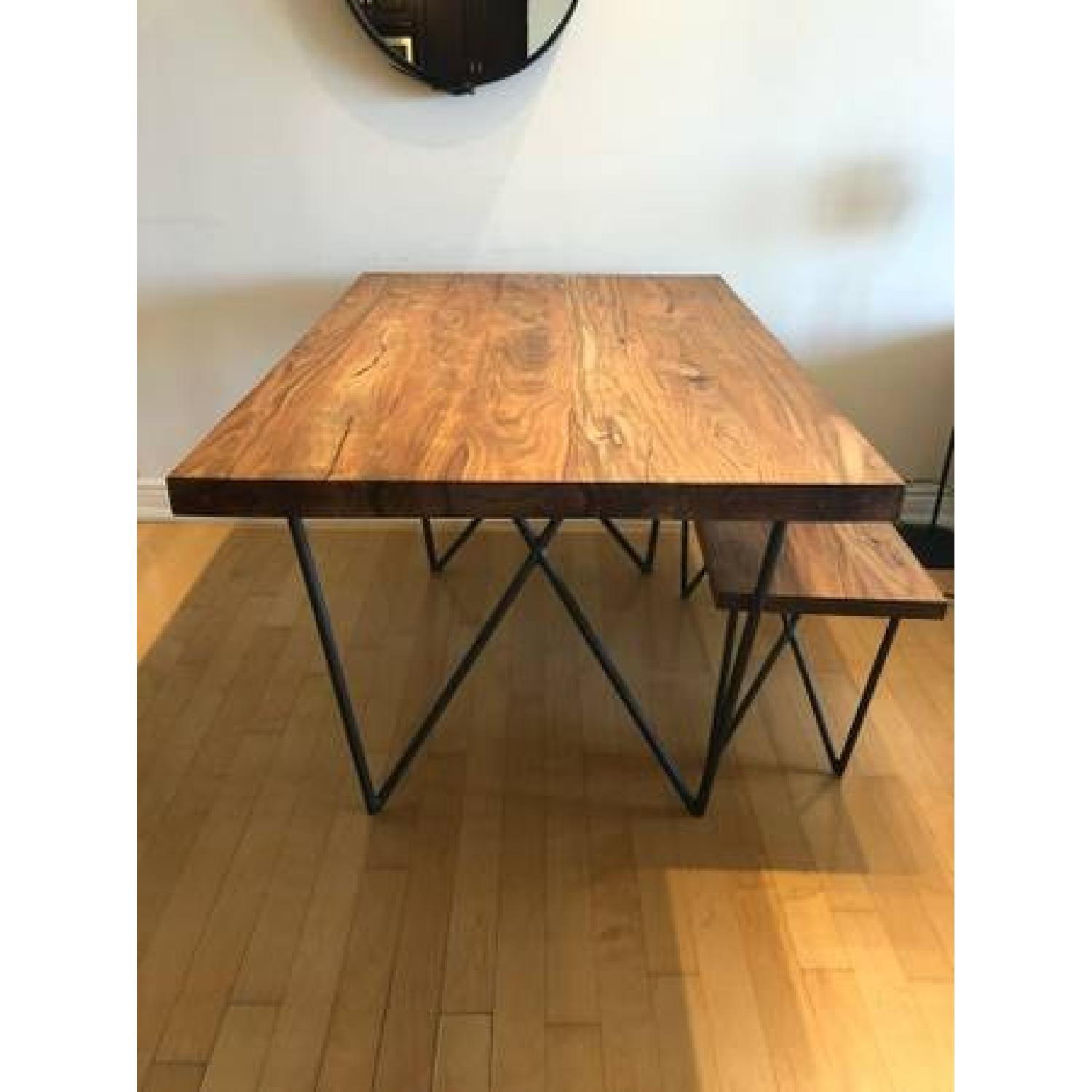 CB2 Dylan Dining Table W 1 Bench