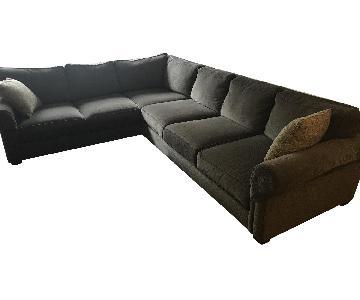 Ethan Allen Richmond 3-Piece Sectional Sofa in Green