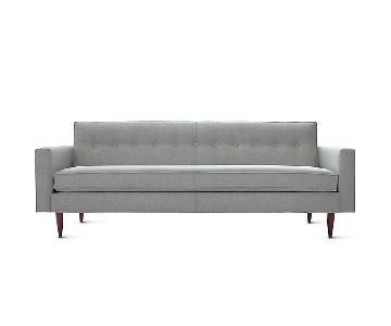 Design Within Reach Bantam Sofa in Light Grey Ducale Wool