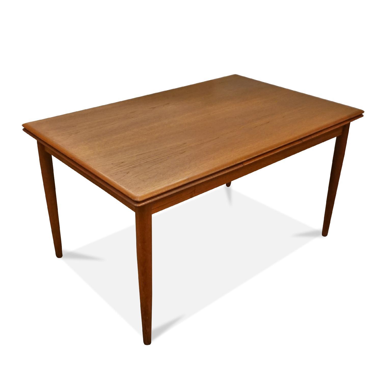Vintage Danish Mid Century Teak Dining Table ...