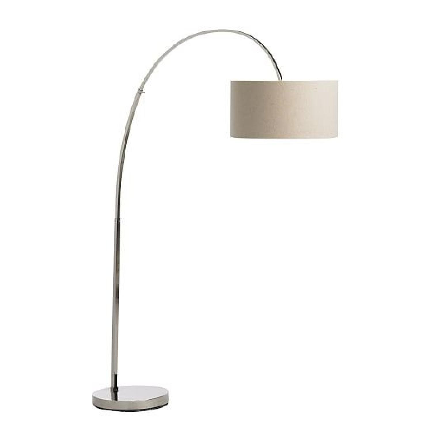 West elm overarching floor lamp in polished aptdeco west elm overarching floor lamp in polished nickelnatural aloadofball Gallery