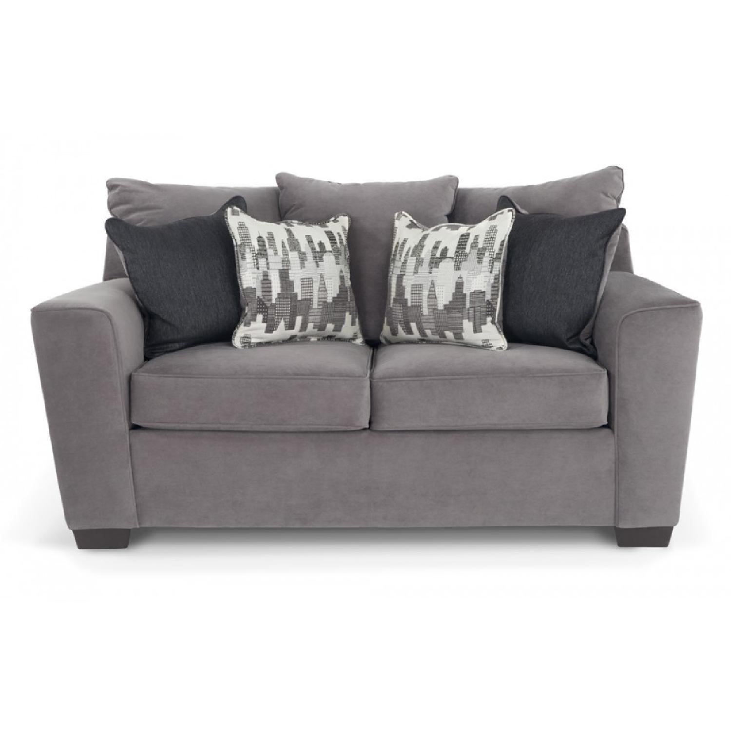 sofa decor stunning living room of lovable bed furniture bobs with brown leather lawrence loveseat