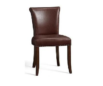 Pottery Barn Spencer Leather Dining Chairs