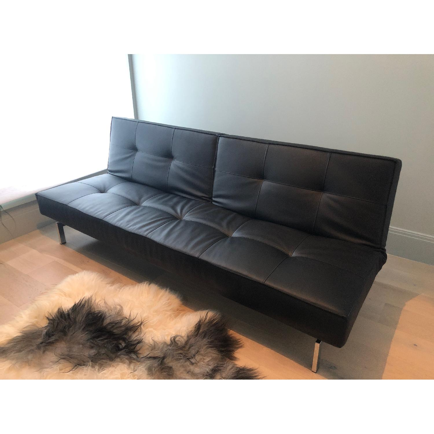 Modern Leather Convertible Sleeper Sofa ...