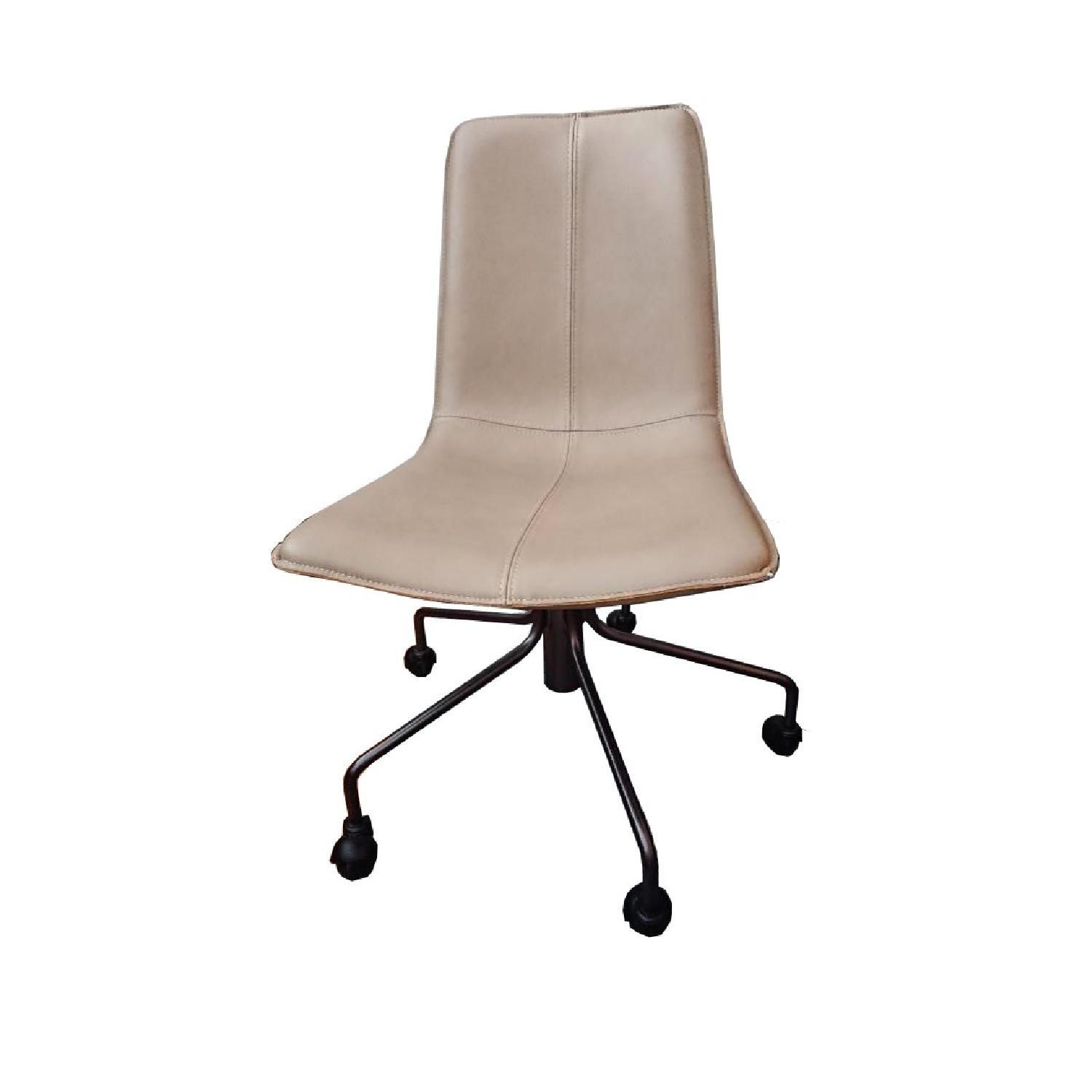 west elm office chair. West Elm Slope Office Chair In Camel Parc Leather