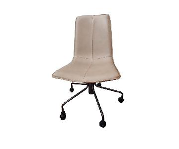 West Elm Slope Office Chair in Camel Parc Leather