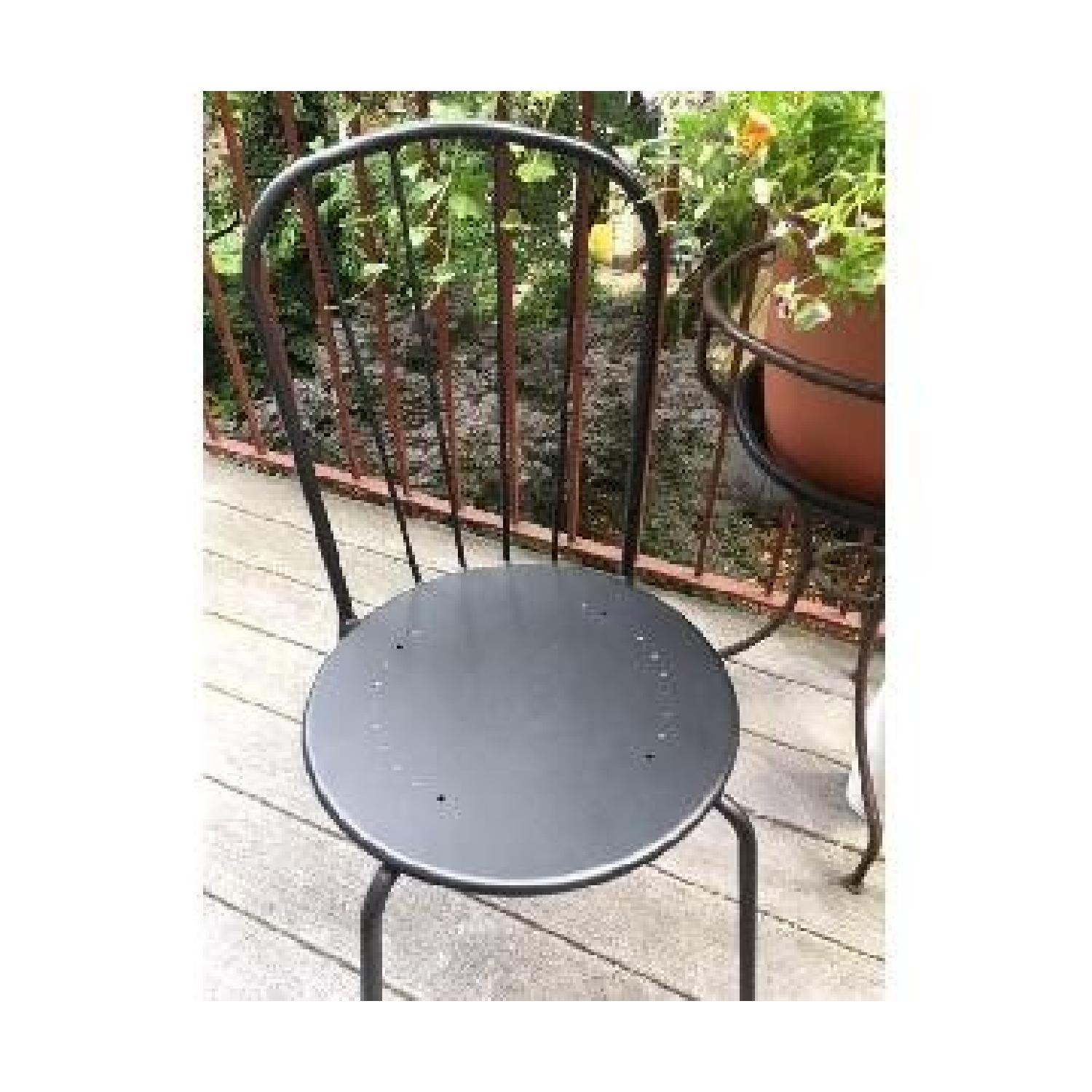 Black Metal Stackable Patio Chairs