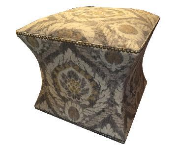 Ballard Designs Ikat Patterned Ottoman