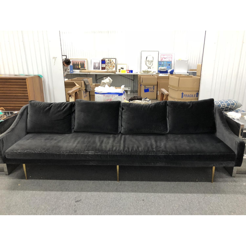... Organic Modernism Florence C Sofa In Black Velvet 0 ...