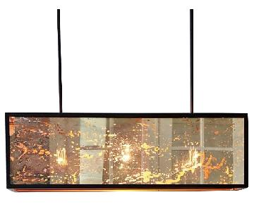 West Elm Panorama Chandelier in Painted Antique Bronze.