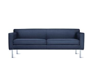 Design Within Reach Theatre Sofa in Navy Velvet