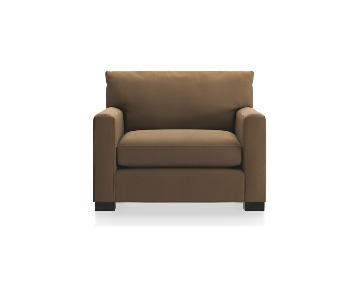 Crate & Barrel Axis II Chair & Ottoman