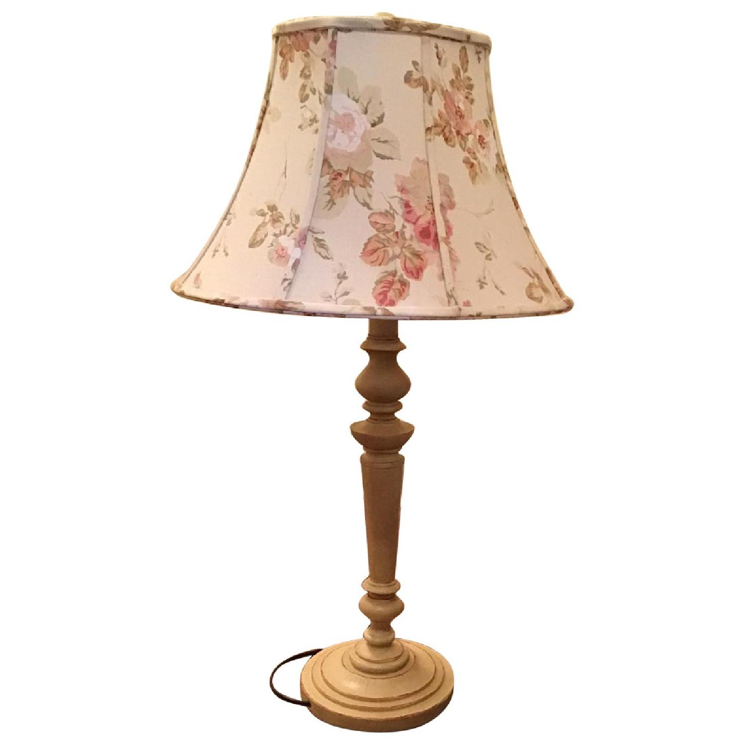 Country table lamp w laura ashley shade aptdeco country table lamp w laura ashley shade aloadofball Images