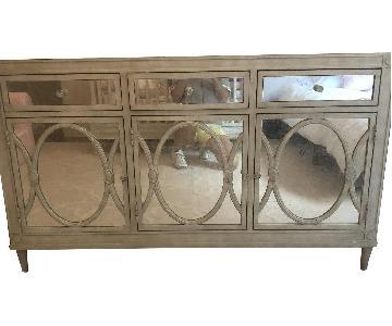 Heirloom White Antique Mirrored Cabinet