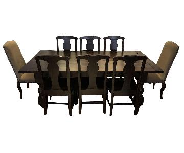 Pottery Barn Distressed Wood Expandable 9-Piece Dining Set