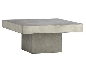 CB2 Concrete Coffee Table