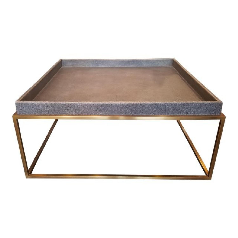 Shagreen Coffee Table Tray