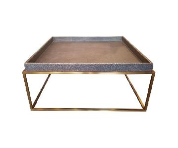 Restoration Hardware Hudson Shagreen Tray Coffee Table