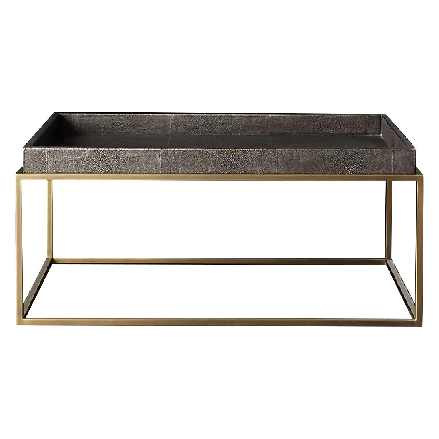 Restoration Hardware Hudson Shagreen Tray Coffee Table ...