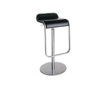 Design Within Reach LEM Piston Stools w/ Leather Seats