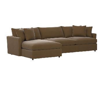 Crate & Barell Lounge II 2-Piece Sectional Sofa