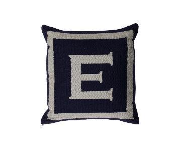 Jonathan Adler Reversible Letter E Throw Pillow