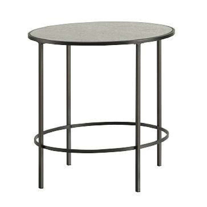 West Elm Antiqued Glass Side Tables AptDeco - West elm glass side table