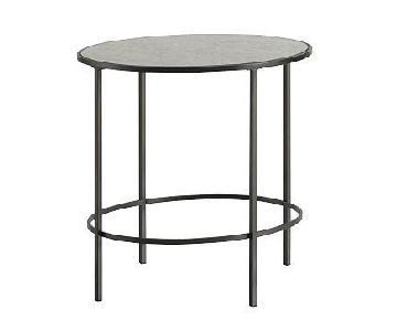 West Elm Antiqued Glass Side Tables