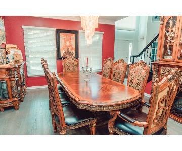 Michael Amini Villa Valencia Dining Table w/ 10 Chairs
