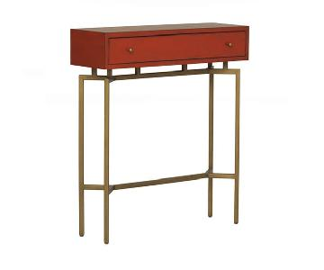 Mitchell Gold + Bob Williams Ming Red Lacquer Console Table