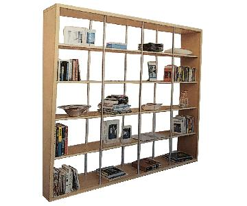 Design Within Reach Oak Index Bookcase/Room Divider