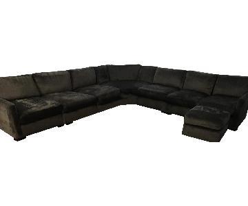 Charcoal Grey 5 Piece Sectional Sofa & Ottoman