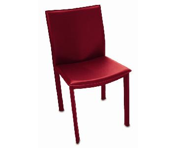 Tag Furnishings Red Leather Office/Dining Chair