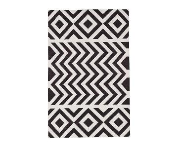 Madeline Weinrib Cotton Lupe Hand Woven Rug in Gray & White