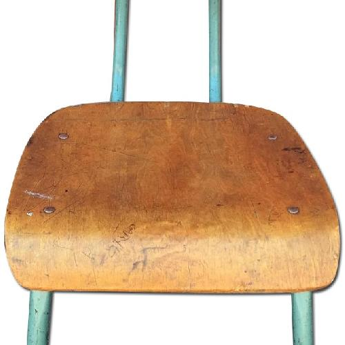 Used Mid Century Modern Bentwood Chair w/ Metal Frame for sale on AptDeco