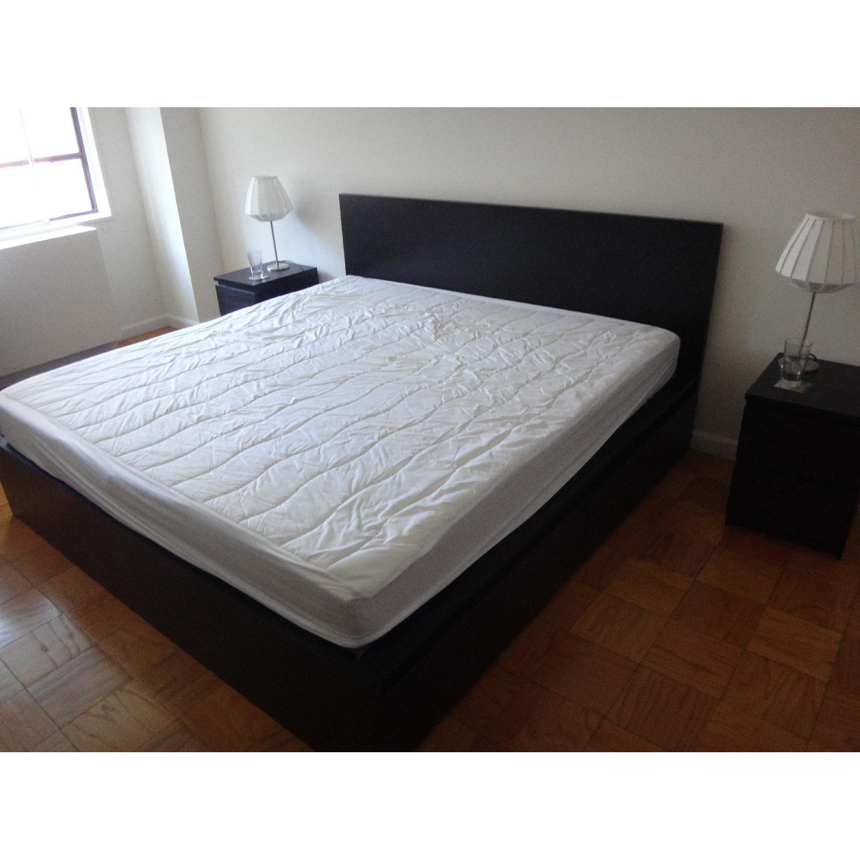 Ikea Malm King Size Bed Frame W 4 Drawers Aptdeco