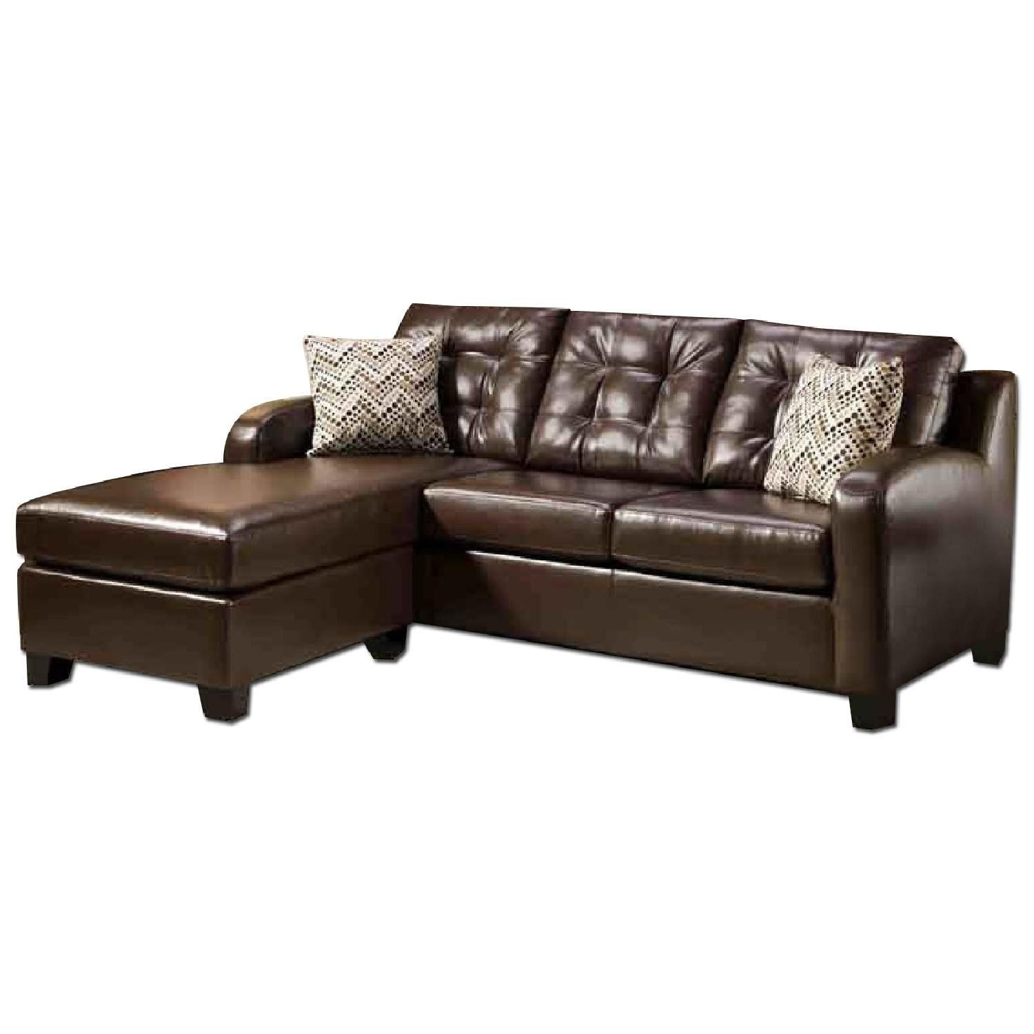 Leather Sofa W Chaise Aptdeco