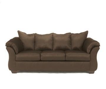 Signature Design Pillow Back Chocolate Sofa