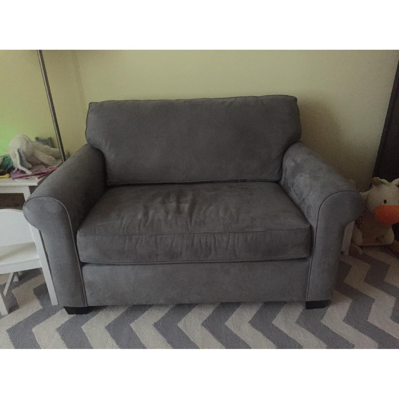 Pottery Barn Buchanan Square Arm Upholstered Twin Sleeper Sofa Aptdeco