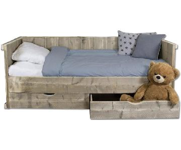 Solid Furn Reclaimed Style Pinewood Kids Bed