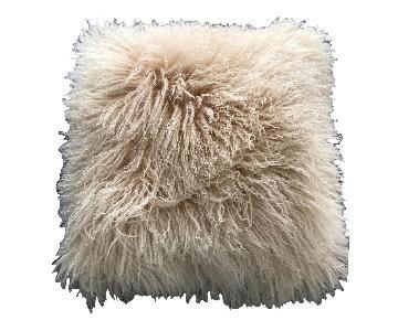 Ivory Real Sheepskin Fur Pillow