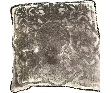 Gunmetal Crushed Velvet Accent Pillow