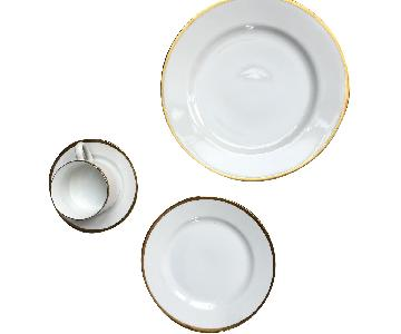 Pottery Barn Bone China w/ Gold Trim