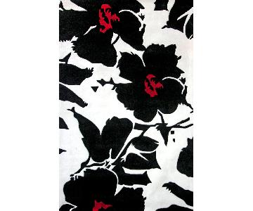 nuLOOm Hand-Tufted Pino Collection Floral Rug in Black