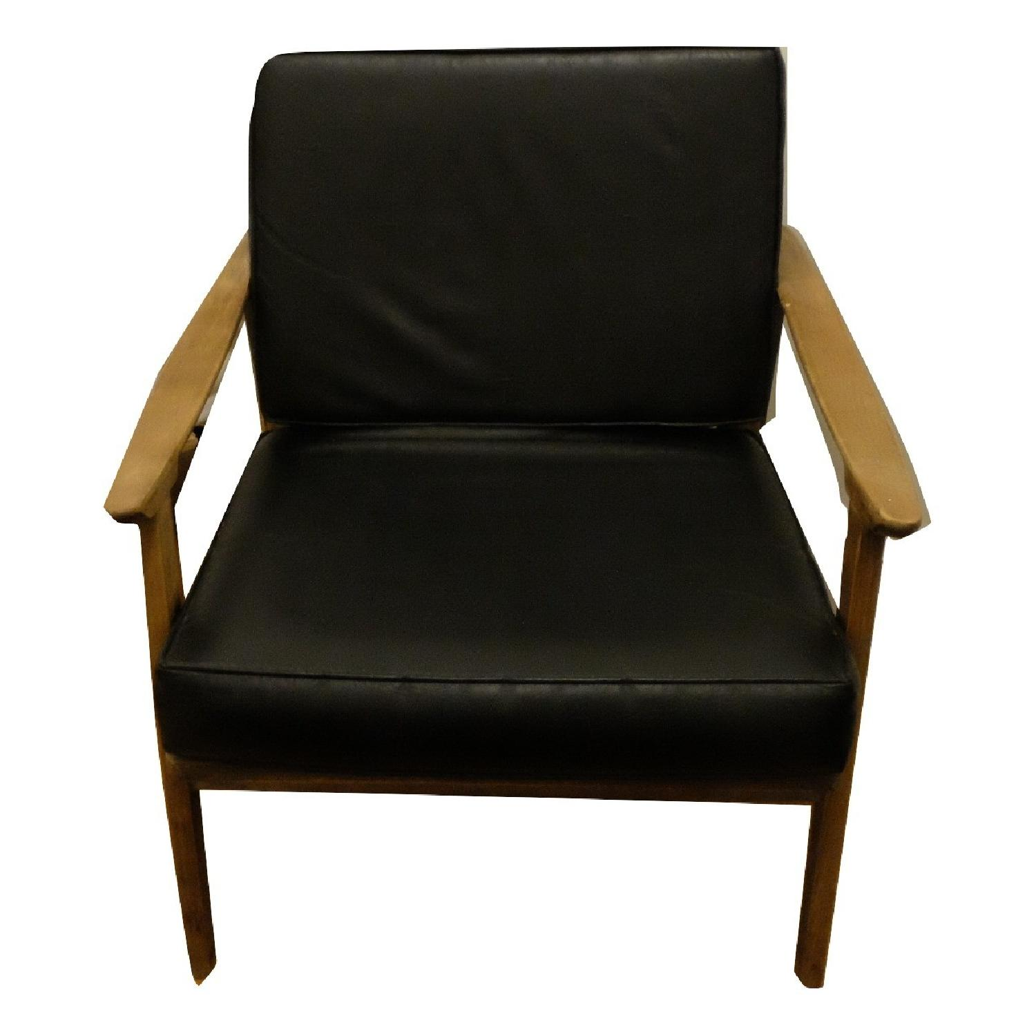 Vintage Mid-Century Wood Cushioned Chair-6