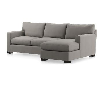 Crate & Barrel Axis II 2-Piece Queen Sleeper Sectional Sofa