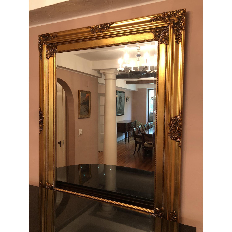 Gold-Framed Wall Mirror - AptDeco
