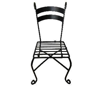 Pier 1 Black Metal Dining Chair