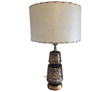 Vintage Mid Century Modern Hollywood Regency Glam Table Lamp